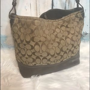 Coach Brown Leather Shoulder Bag Hobo Purse